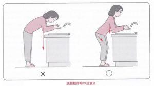 洗顔動作時の注意点