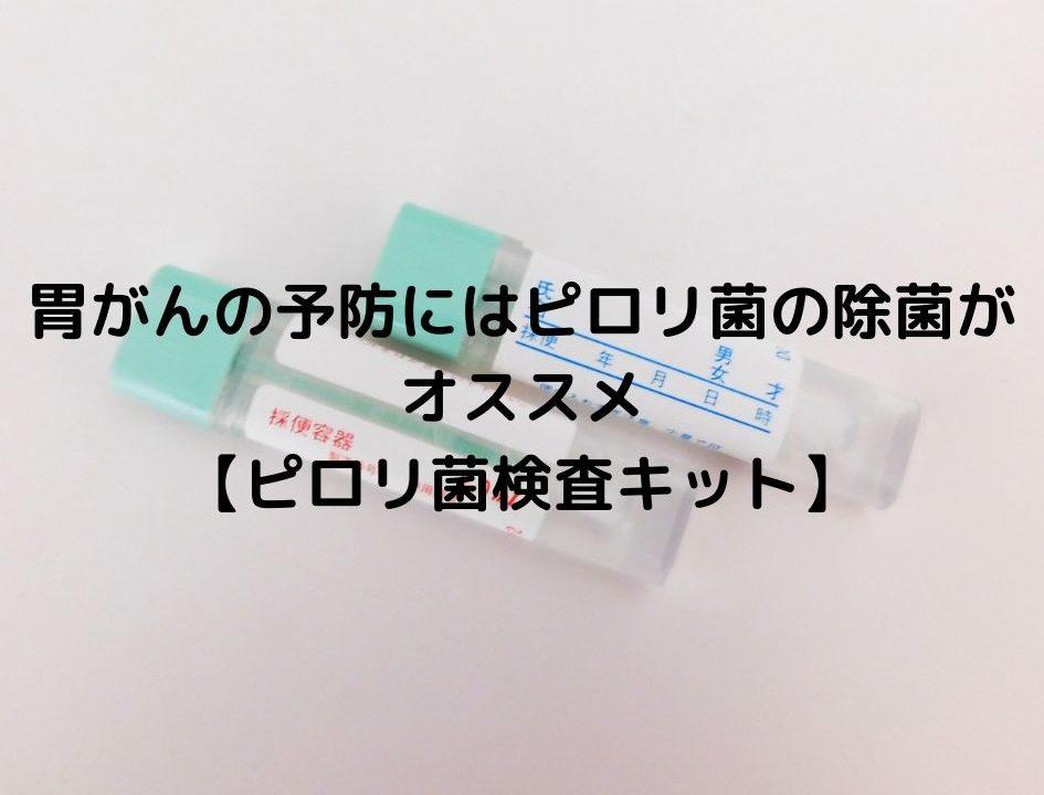 胃がんの予防にはピロリ菌の除菌がオススメ 【ピロリ菌検査キット】