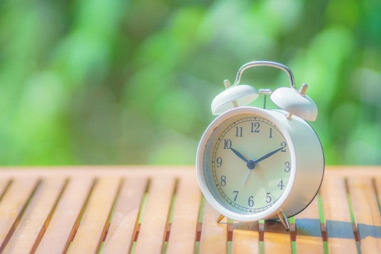 睡眠対策で体内時計のリセット