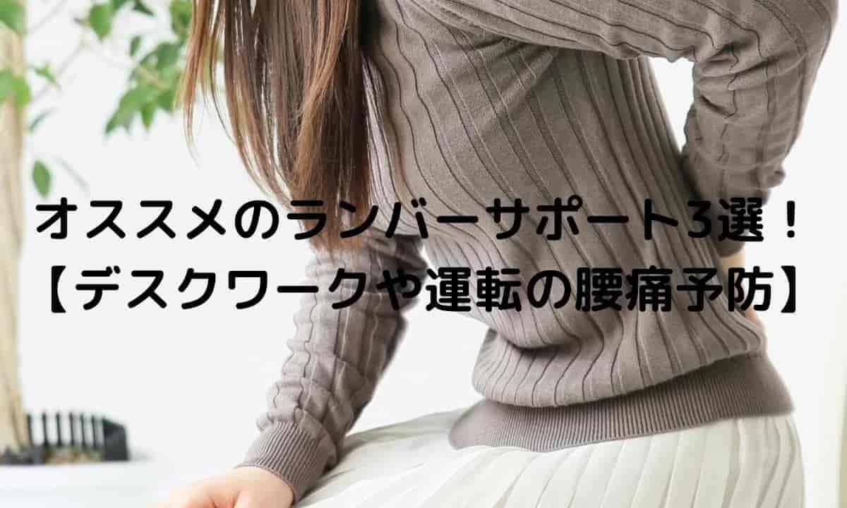 オススメのランバーサポート3選! 【デスクワークや運転の腰痛予防】